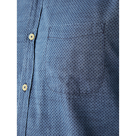 Buy Jigsaw Sim Fit Indigo Spot Print Shirt, Indigo Online at johnlewis.com
