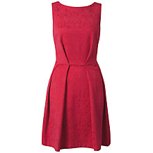 Buy Closet V-Back Jacquard Dress, Pink Online at johnlewis.com