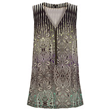 Buy Warehouse Ombre Print Tunic Top, Green Print Online at johnlewis.com