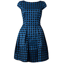 Buy Closet V-Back Geometric Print Dress, Blue Online at johnlewis.com