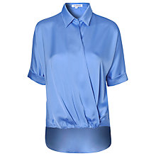 Buy True Decadence Short Sleeve Wrap Shirt, Light Blue Online at johnlewis.com