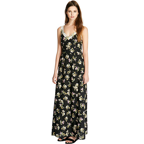 Buy Warehouse Floral Blocked Maxi Dress, Multi Online at johnlewis.com