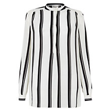 Buy Hobbs Amaya Silk Blouse, Ivory/Black Online at johnlewis.com