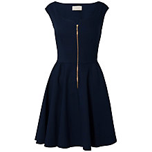 Buy Almari Zip Front Dress, Navy Online at johnlewis.com