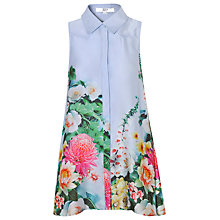 Buy True Decadence Sleeveless Floral Border Shirt Dress, Sky Blue Online at johnlewis.com