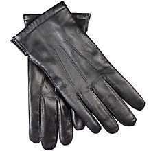 Buy John Lewis Premium Silk Lined Leather Gloves, Black Online at johnlewis.com