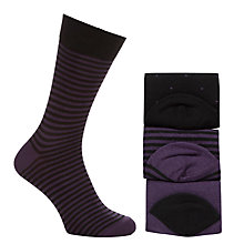 Buy John Lewis Bamboo Socks, Pack of 3, Purple/Black Online at johnlewis.com