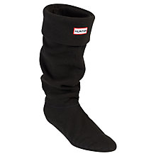 Buy Hunter Fleece Wellington Boot Socks, Black Online at johnlewis.com