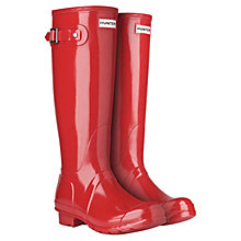 Buy Hunter Women's Original Tall Wellington Boots, Military Red Online at johnlewis.com
