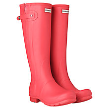 Buy Hunter Women's Slim Zip Matte Wellington Boots Online at johnlewis.com