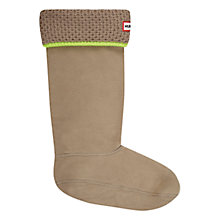Buy Hunter Neon Trim Boot Socks, Putty/ Neon Yellow Online at johnlewis.com
