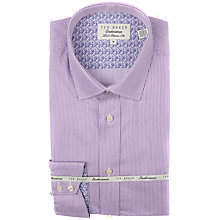 Buy Ted Baker Knowle Geometric Stripe Shirt, Lilac Online at johnlewis.com