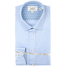 Buy Ted Baker Loftus Geometric Check Shirt, Blue Online at johnlewis.com