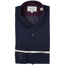 Buy Ted Baker Endurance Darsham Mini Spot Shirt, Navy Online at johnlewis.com