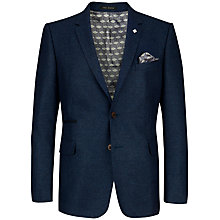 Buy Ted Baker Endurance Degajac Slim Fit Textured Wool Suit Jacket, Barleycorn Blue Online at johnlewis.com