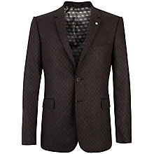 Buy Ted Baker Manjac Geo Print Slim Fit Suit Jacket, Brown/Navy Online at johnlewis.com