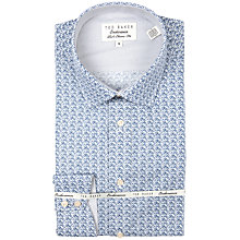 Buy Ted Baker Redhill Floral Shirt, Blue Online at johnlewis.com