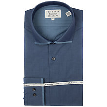 Buy Ted Baker Endurance Cantley Collar Detail Shirt, Blue/Grey Online at johnlewis.com