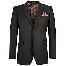 Buy Ted Baker Plain Weave Tailored Suit Jacket, Charcoal Online at johnlewis.com