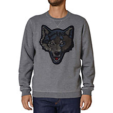 Buy Diesel Tusti  Wolf Cotton Jumper, Charcoal Online at johnlewis.com