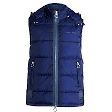 Buy Armani Jeans Puffer Gilet, Royal Blue Online at johnlewis.com