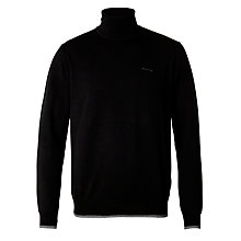 Buy Armani Jeans Roll Neck Jumper, Black Online at johnlewis.com