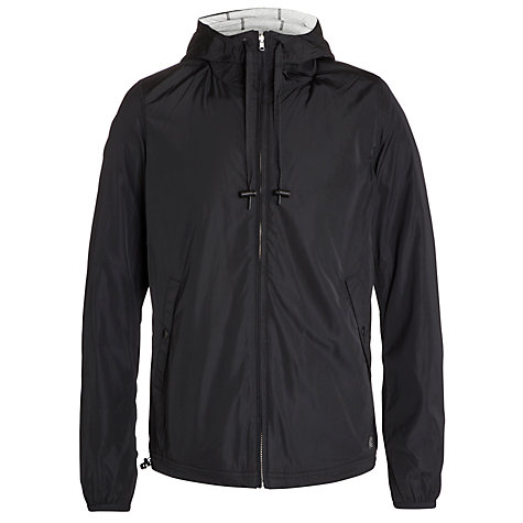 Buy Diesel Larbi Hooded Jacket, Black Online at johnlewis.com