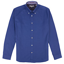 Buy Ted Baker Roberto Dash Weave Shirt, Bright Blue Online at johnlewis.com