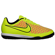 Buy Nike Junior Magista Onda Turf Football Boots, Yellow Online at johnlewis.com
