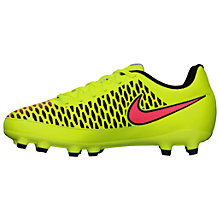 Buy Nike Junior Magista Onda Football Boots, Yellow Online at johnlewis.com