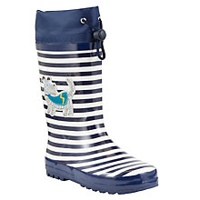 Buy John Lewis Super Dog Wellington Boots, Navy/White Online at johnlewis.com