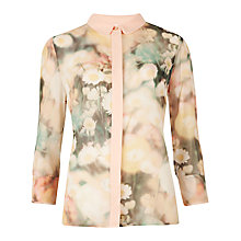 Buy Ted Baker Daisy Print Shirt, Cream Online at johnlewis.com