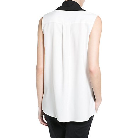Buy Mango Contrast Bow Top, White/Black Online at johnlewis.com