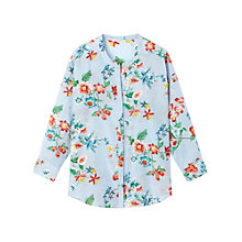 Buy Gérard Darel Silk Blend Floral Shirt, Blue Online at johnlewis.com