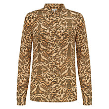 Buy Hobbs Kaye Shirt, Multi Brown Online at johnlewis.com
