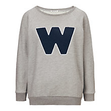 Buy Whistles W Applique Sweatshirt, Grey / Navy Online at johnlewis.com