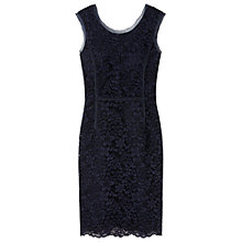 Buy Gérard Darel Flowery Lace Dress, Navy Blue Online at johnlewis.com