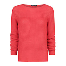 Buy Mango Chunky Knit Jumper, Medium Red Online at johnlewis.com