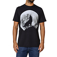 Buy Diesel Wolf Print Cotton T-Shirt, Black Online at johnlewis.com