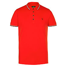 Buy Diesel T-Nox Tipped Polo Shirt, Red Online at johnlewis.com