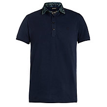Buy Diesel Denim Collar Polo Shirt, Navy Online at johnlewis.com