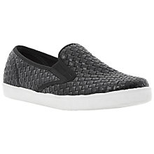 Buy Dune Leeson Woven Trainers, Black Online at johnlewis.com