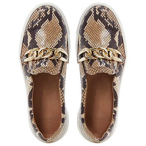 Buy Dune Black Animal Print Slip On Shoe Online at johnlewis.com