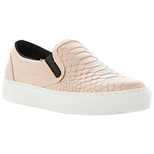 Buy Dune Lutney Leather Textured Slip On Shoe, Nude Online at johnlewis.com