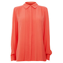 Buy Wishbone Penny Crepe Blouse, Coral Online at johnlewis.com