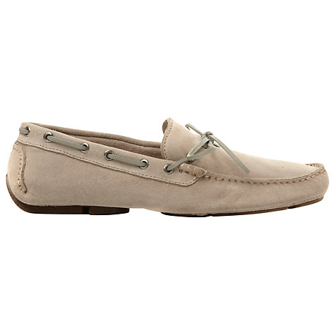 Buy Dune Beachy Suede Driver Shoes, Grey Online at johnlewis.com