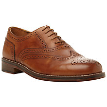 Buy Dune Axton 1 Leather Brogue Oxford Shoes, Tan Online at johnlewis.com