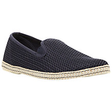 Buy Dune Fence Cotton Espadrilles, Navy Online at johnlewis.com