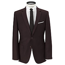 Buy JOHN LEWIS & Co. Tailored Lansdowne Flannel Suit Jacket, Oxblood Red Online at johnlewis.com