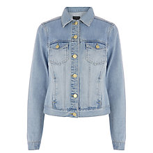 Buy Warehouse Western Jacket, Light Wash Denim Online at johnlewis.com